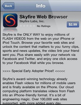 Download SKyfire for iPhone 4, iPod touch