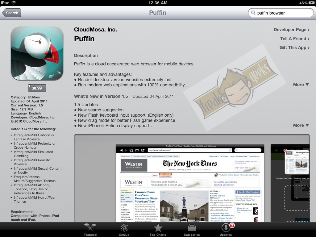 Puffin Browser Lets You Play Flash Content on iOS