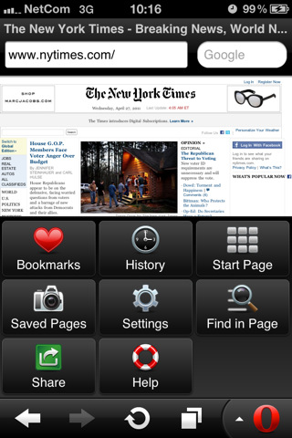 Opera Mini 6 For iOS devices