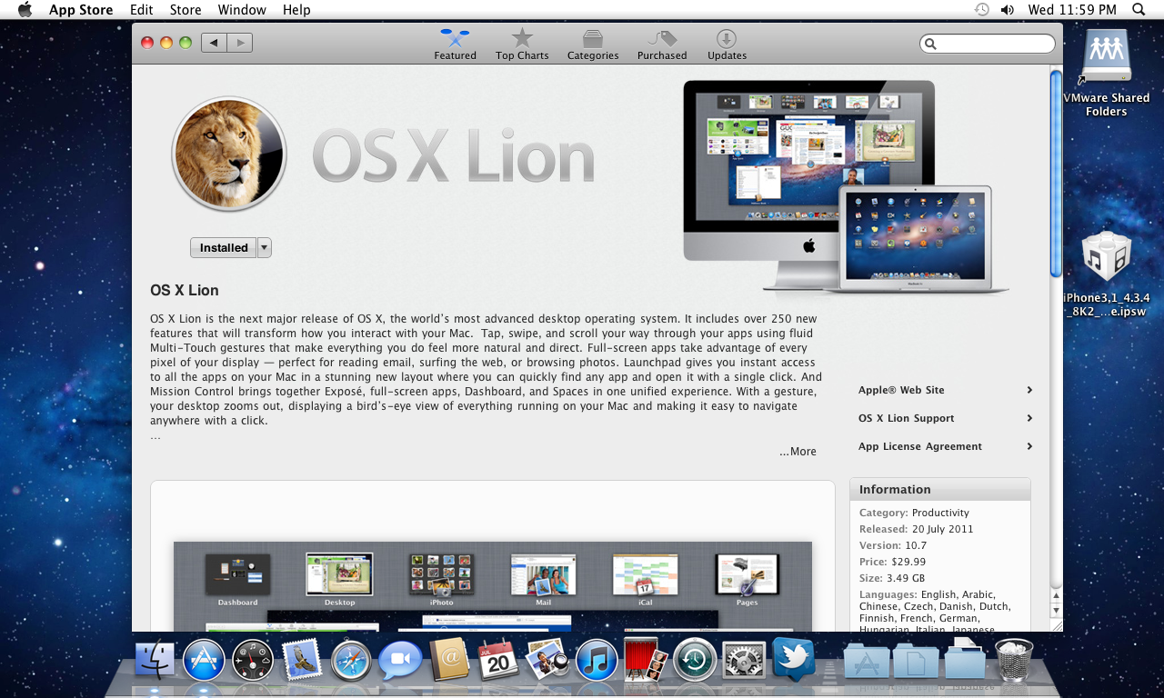 Downloading MAC OS X Lion   Check The Progress Of The Download