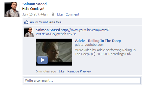 embed video in facebook comment
