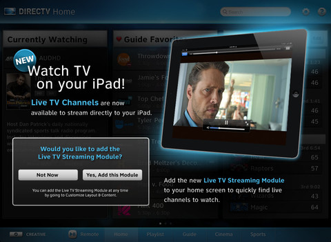 DirectTV For iPad