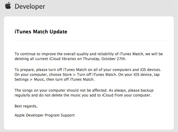 iTunes Match Wipe Out
