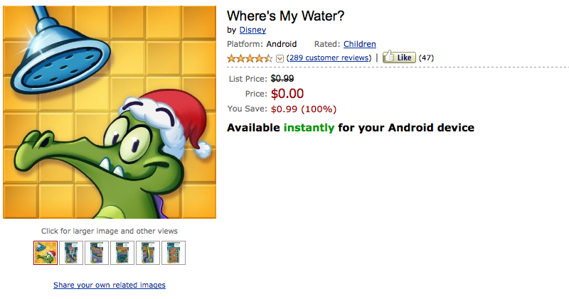 Where's my Water for android