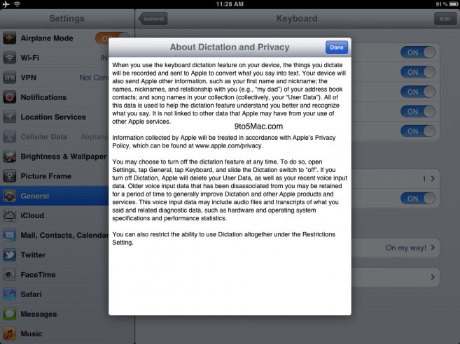 Siri Dictation For iPad