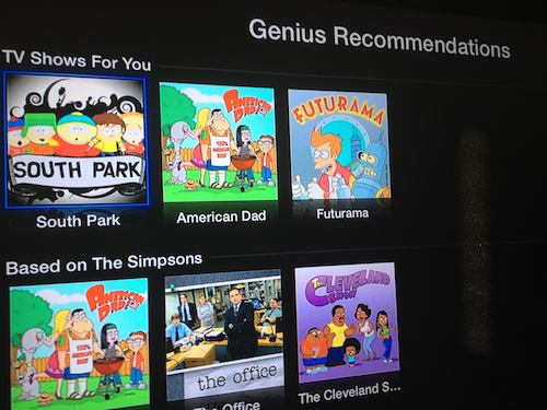 Genius in AppleTV