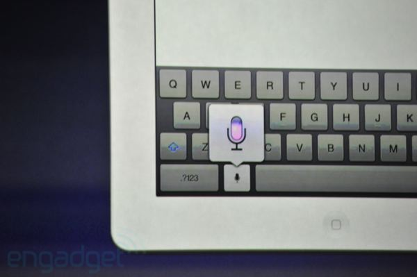 Siri Voice Dictation for iPad