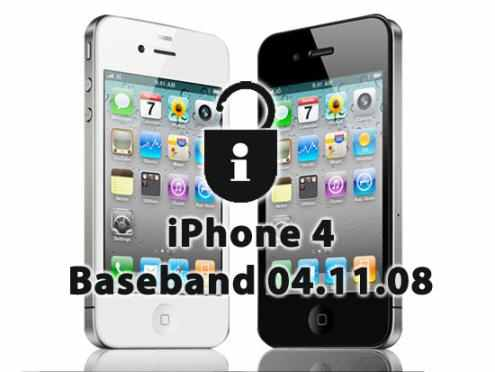 Unlock iPhone 4 04.11.08 Baseband