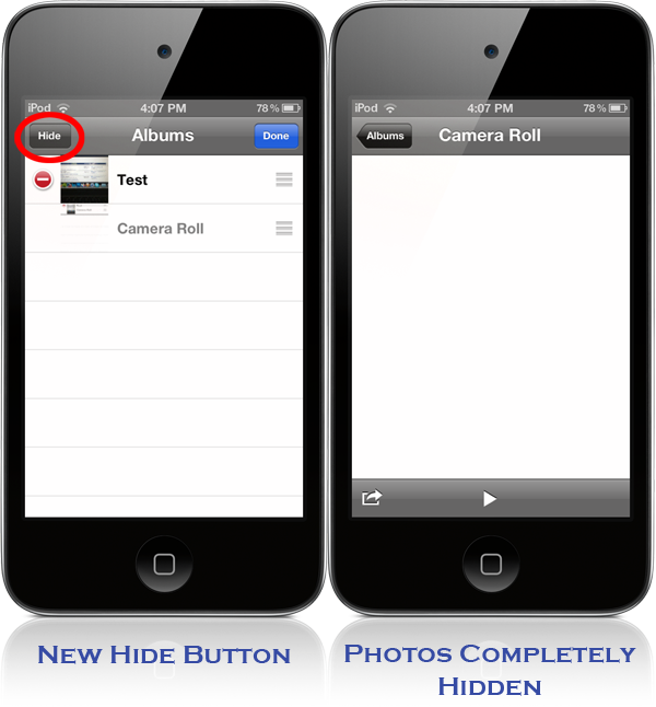 hide images on iphone and ipad