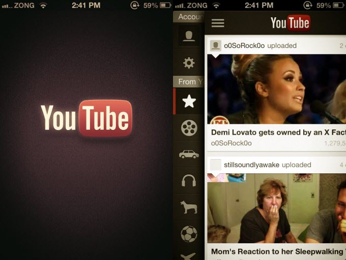 YouTube App For iPhone 5