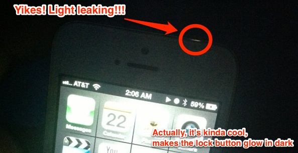 iPhone 5 Light Leakage