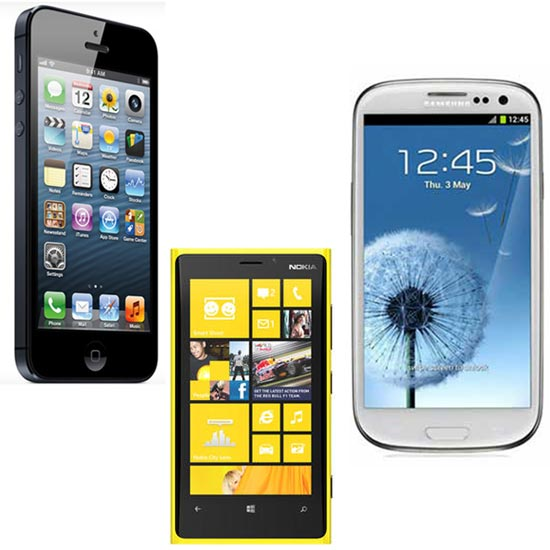 iPhone 5 vs Galaxy S III vs Lumia 920 : Comparison