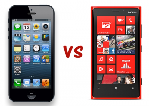 iPhone 5 vs. Nokia Lumia 920